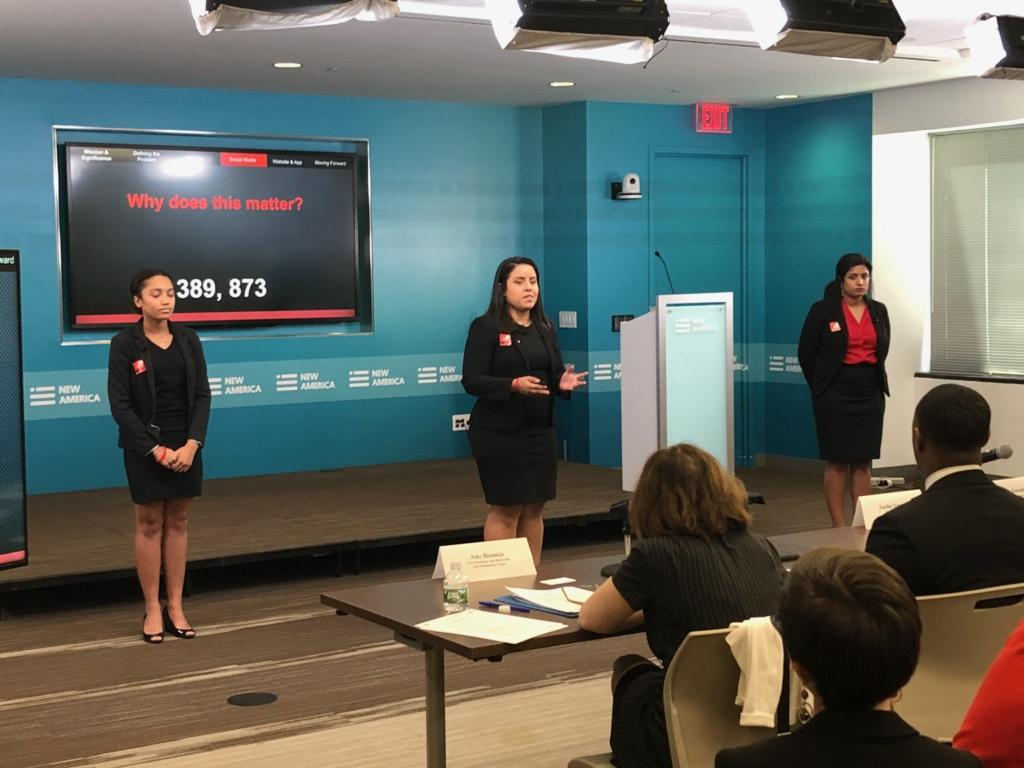 UMD team presenting at ADL competition
